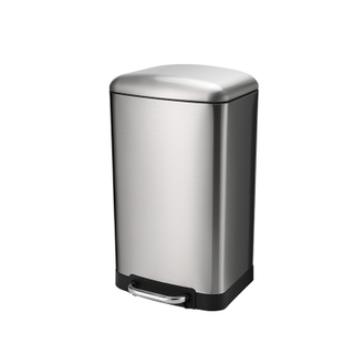 Rectangle Soft-Close Trash Can with Stainless Steel for Pedal Control- 20L / 5.28 Gal
