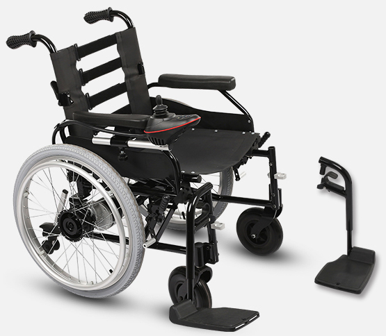 Detachable electric wheelchair