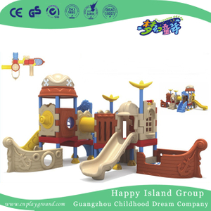 Outdoor Plastic Small Pirate Ship Playground Equipment (ML-2007001)