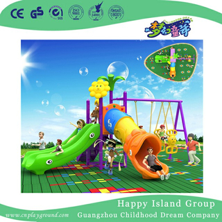 Outdoor Cartoon Simple Children Slide and Swing Playground (BBE-A65)