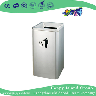 High Quality Outdoor Rectangle Stainless Steel Trash Can (HHK-15308)