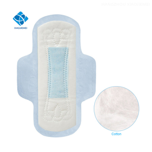 Ultra Thin And Regular Feminine Hygiene Day Use Winged Cotton Soft Sanitary Napkin with Blue ADL