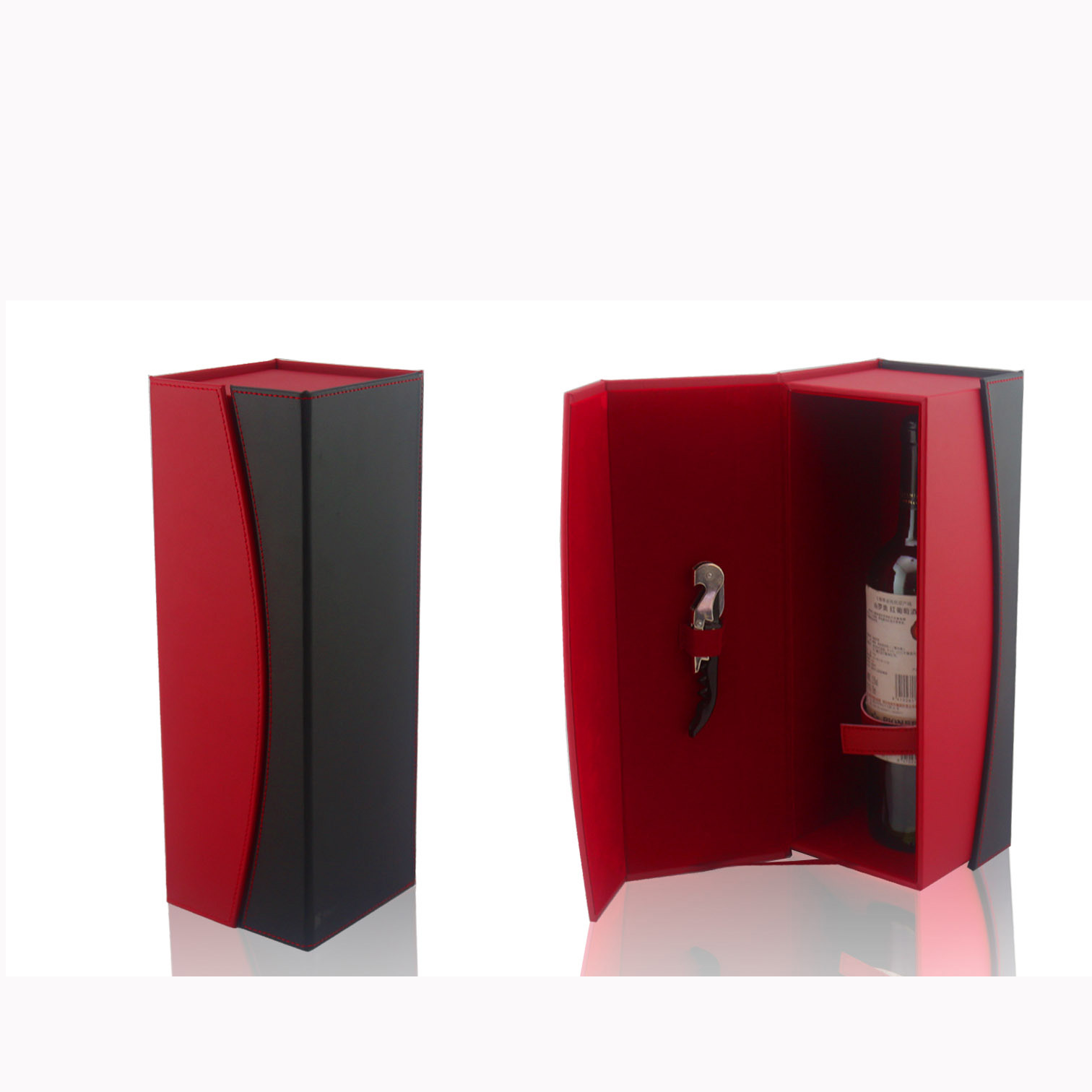 Wine Box Manufacturer PU leather luxury wine box