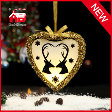 Hanging Glass Craft Gift for Christmas Glass Heart Gifts