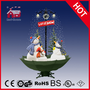 (40110U170-3S-GW) Snowing Christmas Decorations with Umbrella Base