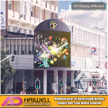 Techo a todo color al aire libre en forma de arco LED Display publicitario