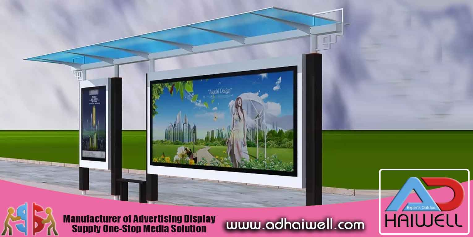 Bus Shelter With Advertisement