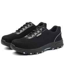 SP014 black metal free fashion sport airport safety shoes