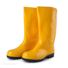110Y acid resistant steel toe glitter safety rain boots for men
