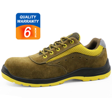 Low ankle oil resistant suede leather steel toe cap work shoes