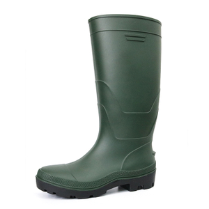 F35GB oil resistant light weight green plastic safety rain boot