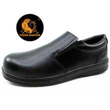 Black microfiber leather composite toe cap executive safety shoes