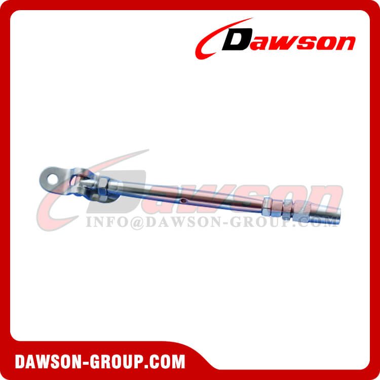 Stainless Steel Rigging Screw with Swageless Deck Toggle