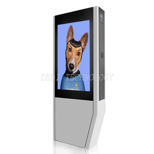 55inch Outdoor lcd digital signage kiosk with touch screen