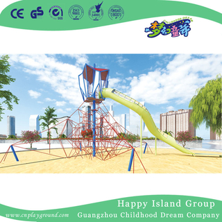 Outdoor Large Metal Stainless Steel Slide Playground with Climbing Equipment (HHK-7501)