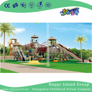 Outdoor Amusement Park Large Wandering Wooden Playground (HHK-7601)