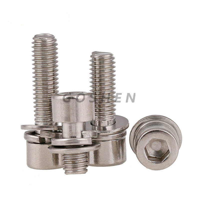 stainless steel 304 316 316L Hexagon socket screw with washer
