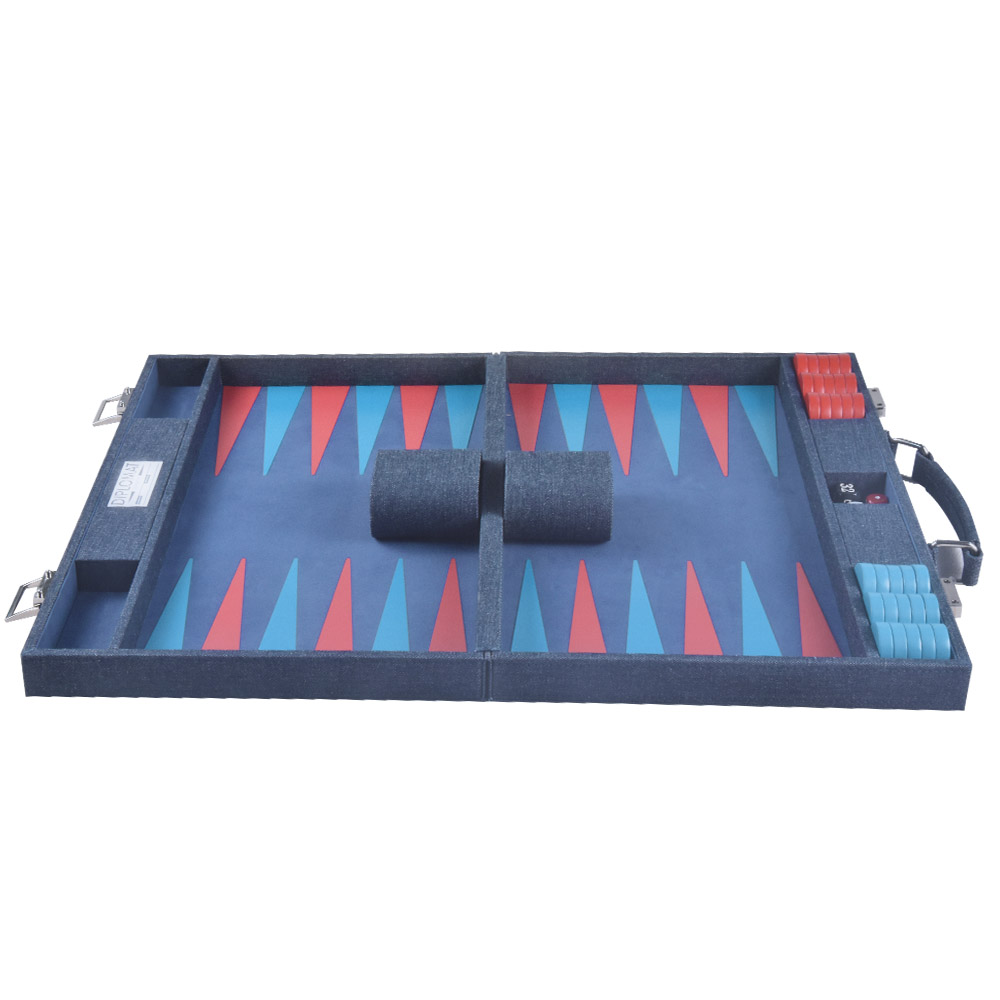 Wholesale Logo Travel Chess Game Box Packaging Pu Leather Backgammon Board