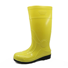 107-1 oil resistant yellow steel toe glitter safety rain boot