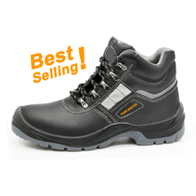 TM004 hot sales black leather waterproof steel toe cap china men safety shoe