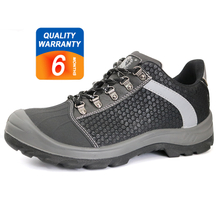 N0185 new style microfiber leather steel toe cap safety shoes industrial