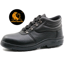 Cemented cheap steel toe cap industrial safety shoes black