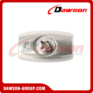 Stainless Steel Egg Shaped Wire Roep Clip, Oval Wire Rope Clip