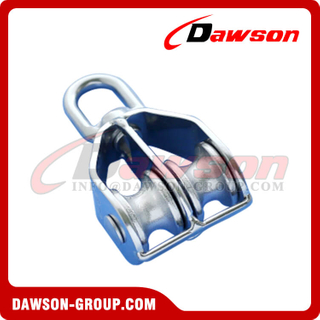 Stainless Steel 316 Swivel Eye Pulley Double Sheaves