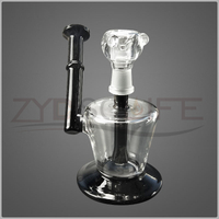 5.9 Inch Black Glass Water Pipe of Recovery Filter