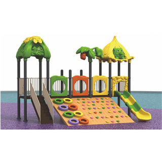 Outdoor Cartoon Animal Wooden Climbing Wall Playground (ML-2009801)