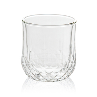 GD0506 Glass Cappuccino Cups Double Walled Coffee Glasses - Clear Thermo Insulated Stackable Mugs