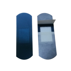 Flexible fabric fingertip blue metal band aid
