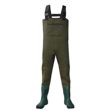 Front pocket water proof neoprene fishing chest wader with rubber boots