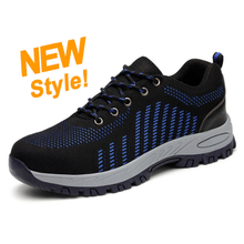 SP007 fashionable steel toe rubber sole work shoes for men online