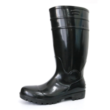 F30BB cheap black steel toe cap safety rain boot on sale