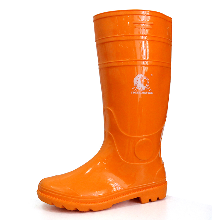 103-OO waterproof oil resistant lightweight non safety cheap pvc rain boot