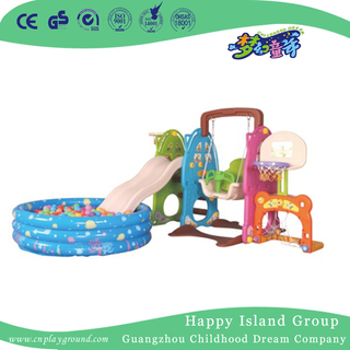 Backyard Commercial Plastic Small Slide With Swing For Toddler (ML-2014505)