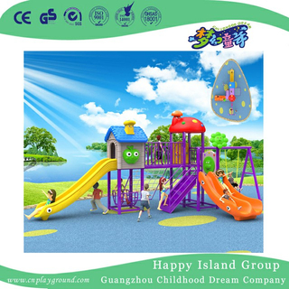 Outdoor Commercial Plastic Children Slide and Swing Combination Playground (BBE-A34)