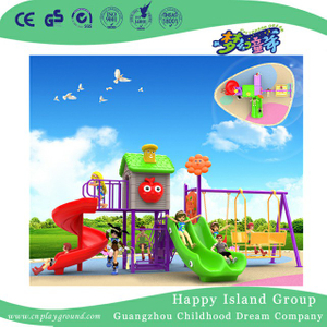 Outdoor Cartoon Toddler Slide And Swing Combination Set (BBE-A53)