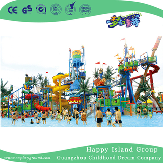 Outdoor Commercial Large Family Water Park Playground (HHK-10601)