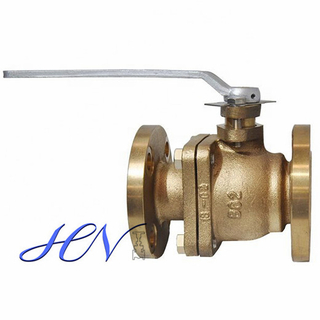 Bronze Flanged Side Entry Lever Floating Ball Valve