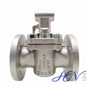 Industrial Flanged Stainless Steel Manual Sleeved Plug Valve