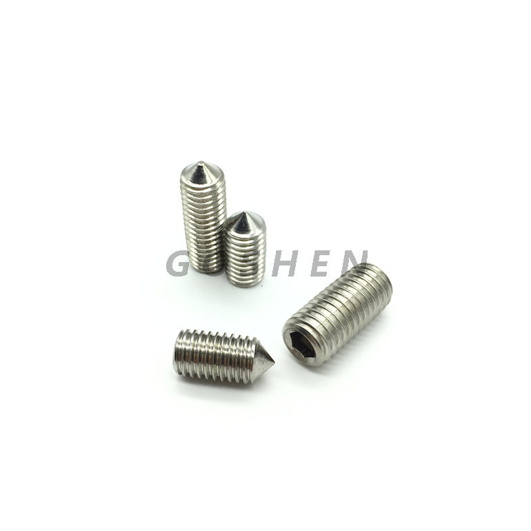 Stainless Steel Hexagon Socket Set Screws With Cone Point