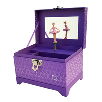 Personalized Leather Cardboard Jewellery Music Musical Jewelry Box with Dancing Ballerina