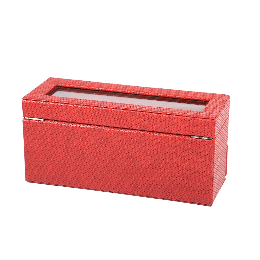 Luxury high-end custom leather long watch box watch collector box watch gift box with custom logo for men