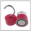 Rubber Coated Magnetic Hook Fishing Magnets with Rubber Sleeve