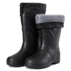 Anti slip windproof pu collar keep warm men winter eva boots for work