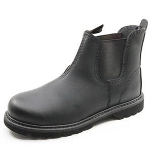 No lace fashionable steel toe cap goodyear safety shoes for work