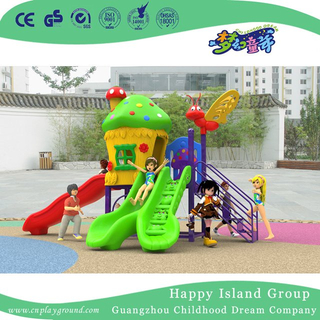 New Design Outdoor Mini Mushroom House Children Playground Equipment with Cartoon Animal (H17-A6)