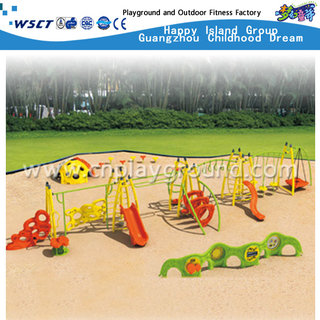 Multi Slides and Function Steel Structure Children Metal Playground on Promotion (HA-11501)